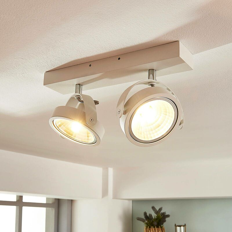 LED Deckenlampe aus Aluminium dimmbar für Küche von Lampenwelt