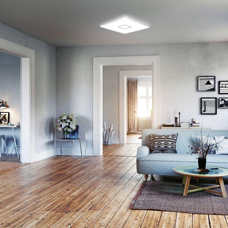 Deckenleuchten Led Deckenleuchte Ultraflach Panel Deckenlampe Wohnzimmer Flur Slim Weiss Silber Productivedentalassisting