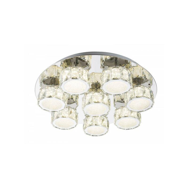 Globo Deckenleuchte Deckenlampe dimmbar K5-Kristalle LED rund 49350D5-'61973277'