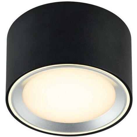 LED-Deckenleuchte anb 9W FALLON 2700K 500lm sw mt Konv IP20 Ø100mm Kst_klar