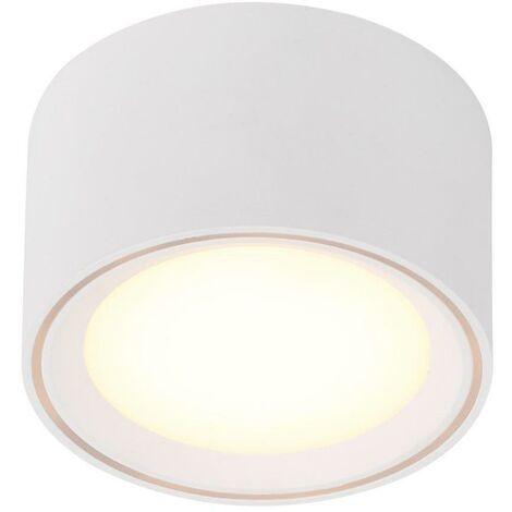 LED-Deckenleuchte anb 9W FALLON 2700K 500lm ws mt Konv IP20 Ø100mm Kst_klar