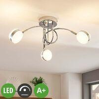 LED Deckenleuchte aus Metall dimmbar für Schlafzimmer von Lampenwelt