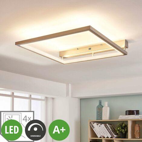 LED Deckenleuchte aus Metall dimmbar für Wohnzimmer & Esszimmer von ...