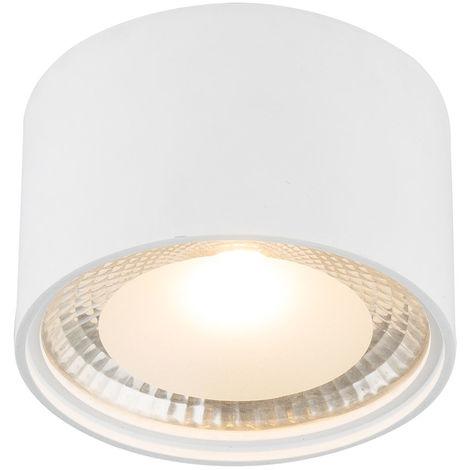 LED Deckenleuchte aus Metall in weiß, Zylinder, SERENA