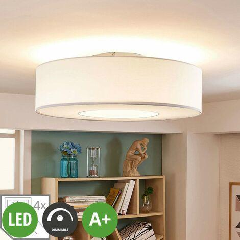 LED Deckenleuchte aus Textil dimmbar für Wohnzimmer & Esszimmer von ...