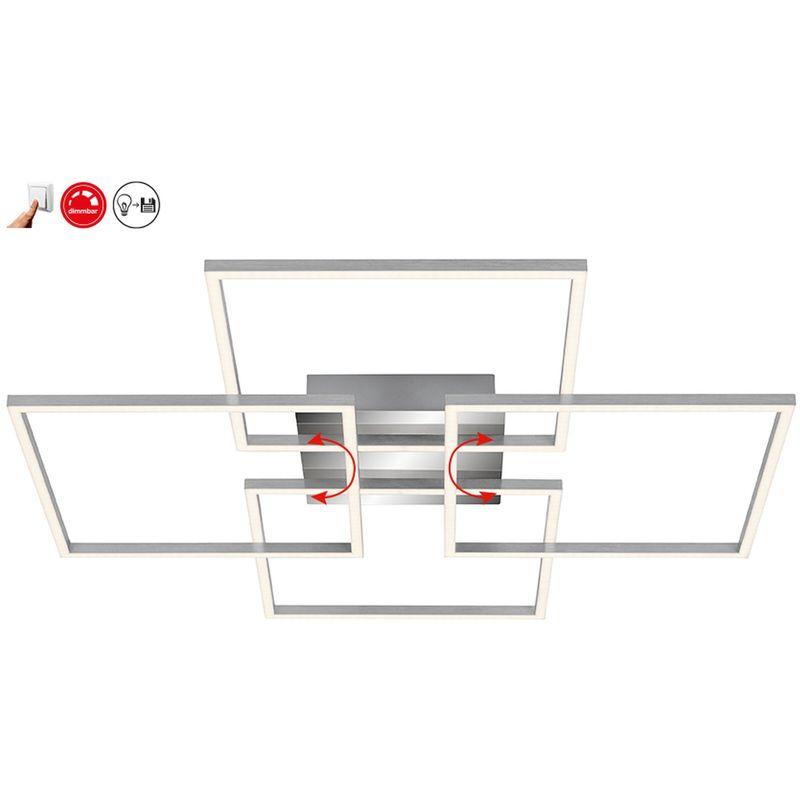 B-Kartonage Deckenleuchte Frame LED Deckenlampe dimmbar über Lichtschalter - Briloner