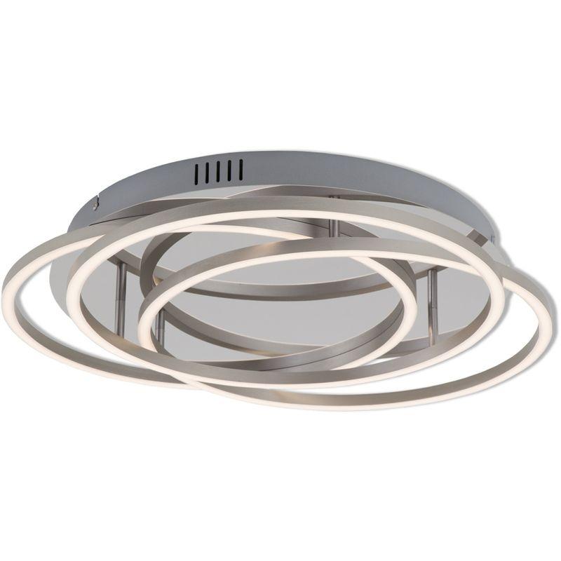 LED Deckenleuchte Briloner 3248-018 Wohnraumlampe Dimmbar Chrom Alu