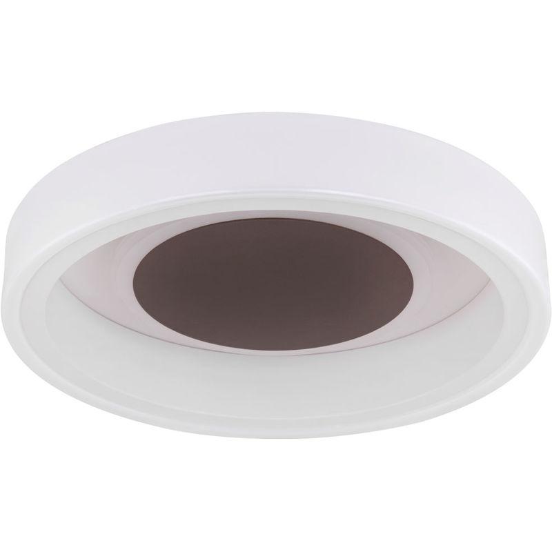 Globo - LED Decken Leuchte Wohn Zimmer Strahler satiniert Dielen Beleuchtung rund braun 48398-24