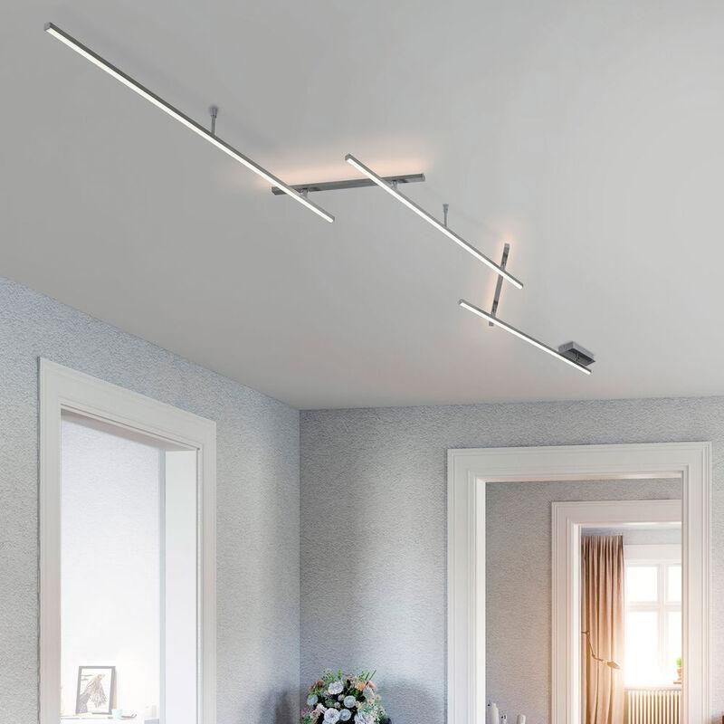 Click-licht.de - LED Deckenleuchte Indira in Nickel 3x6W