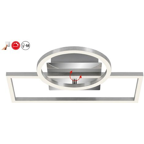LED Deckenleuchte Peters-Living 6470894 Wohnraumlampe Dimmbar Chrom 40 Watt