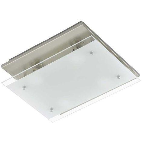 LED Deckenleuchte Peters-Living 6474526 Wohnraumlampe Silber Glas 8,4 Watt