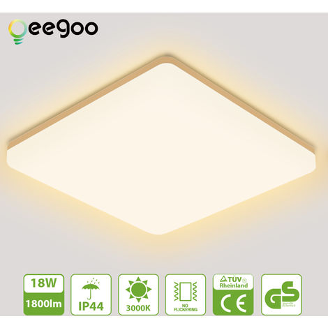 50W LED Deckenleuchte Bad Badleuchte Leuchte Badlampe Kinderzimmer Warmweiß