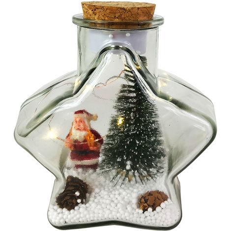 Weihnachtsdeko Led Stern.Led Deko Flasche Stern Mit Weihnachtsdeko M776532
