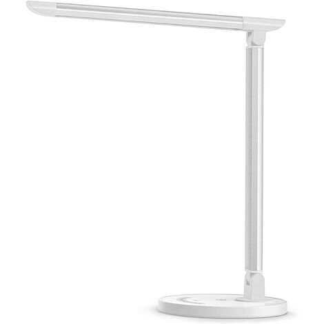 """main image of """"LED Desk Lamp, Eye-caring Table Lamps, Dimmable Office Lamp with USB Charging Port, 5 Lighting Modes with 7 Brightness Levels, Touch Control, White, 12W, Philips EnabLED Licensing Program"""""""