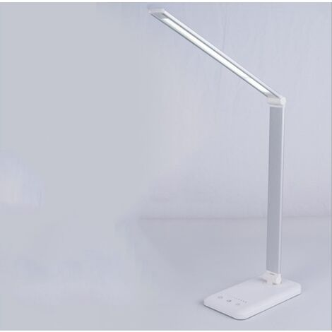 LED Desk Lamp Light Ladder LED Desk Lamp (Wireless Loading and Touch Control, Five Speed and Silver Grading) -