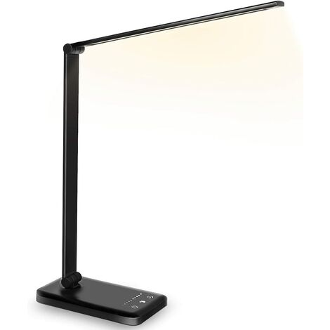 LED Desk Lamp Light Ladder LED Office Lamp (Wireless Loading and Touch Control Type, Five Speed and Black Grading) -