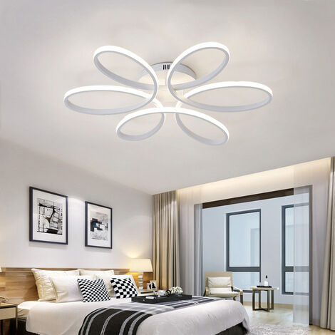 LED Dimmable Ceiling Light Floral Pendant Chandelier With Remote, 74CM