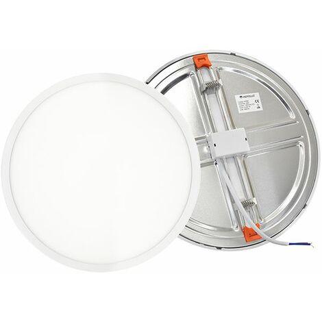 Led downlight aluminio empotrado redondo blanco 20w ajustable 50-210mm alta calidad