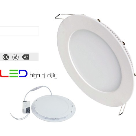 Led downlight aluminio empotrado redondo blanco 20w alta calidad