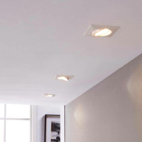 LED downlight Andrej, angular, white, set of 3
