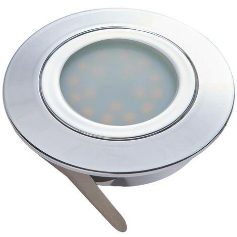 LED downlight Andrej, round, chrome, set of 3