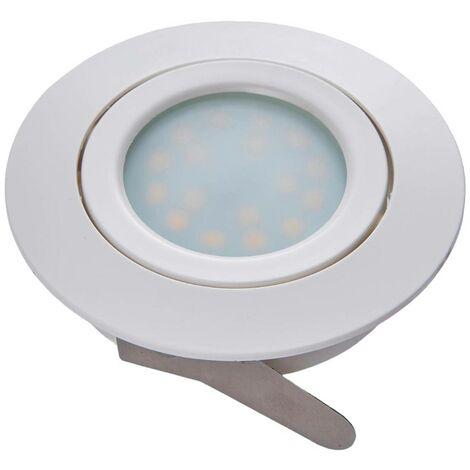 LED downlight Andrej, round, white, set of 3