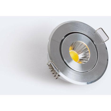 LED Downlight Einbauleuchte COB Schwenkbar 1W Silber