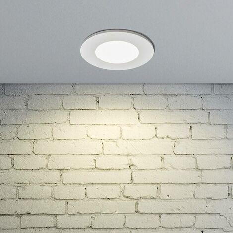 LED downlight Kamilla, white, IP65, 7W