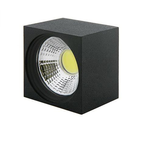 LED Downlight Pour Montage En Surface COB CarréNoir 57X57Mm 3W 270Lm 30.000H BF-MZ3002-3W-B-CW