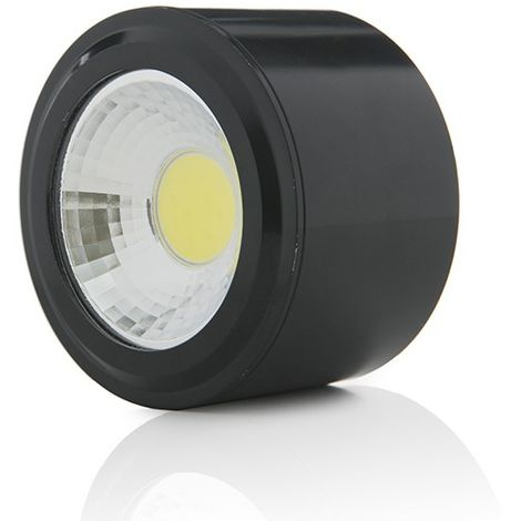 LED Downlight Pour Montage En Surface COB Rond Noir Ø68Mm 5W 450Lm 30.000H