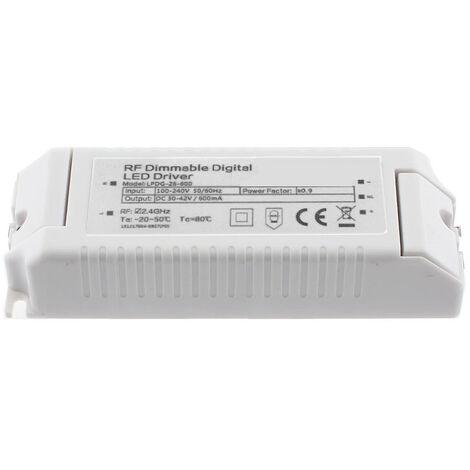LED Driver DC30-42V/30W/600mA, regulable RF digital