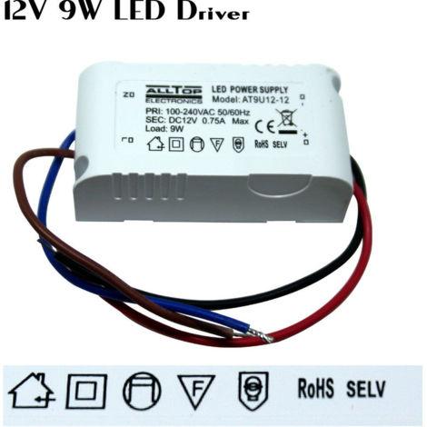 LED Driver Power Supply Transformer 240V - DC 12V 9W for LED Strip CCTV MR16
