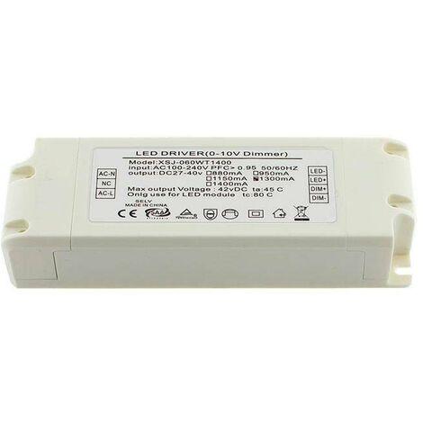 LED Driver TUV DC27-42V/55W/1300mA, Regulable 0-10V, regulable