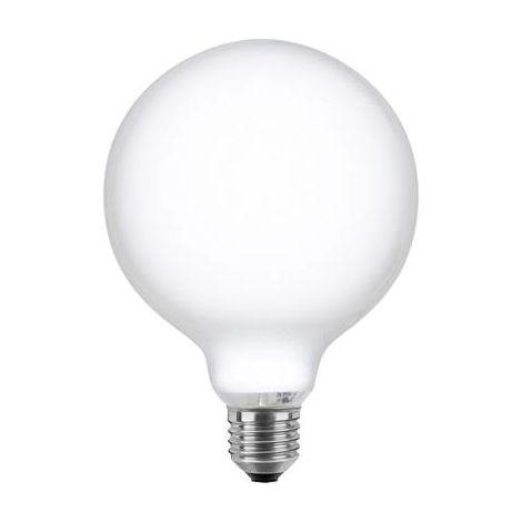 Ampoule /à incandescence en forme de globe 100 W Culot E27 Opale G120 125 mm Blanc chaud Intensit/é variable