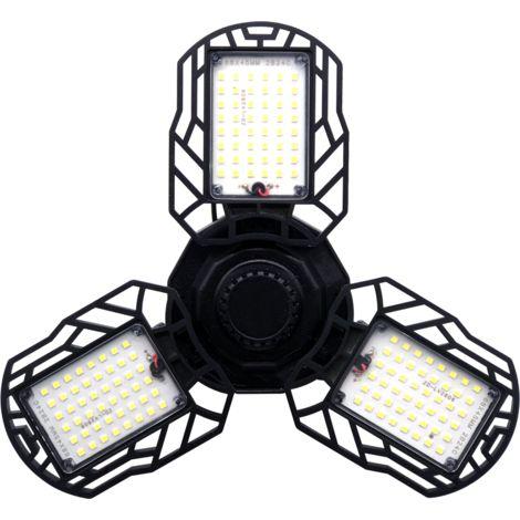 LED Éclairage de garage - lampe d'atelier déformable intérieur 60W pour lampe de garage, lampes pour mines à haute intensité45W