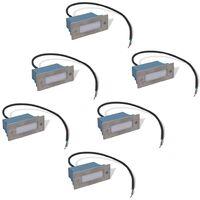 LED Einbauleuchte Treppenleuchte 6 stk 44x111x56 mm