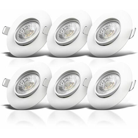 LED Einbauleuchte weiß 6er Set
