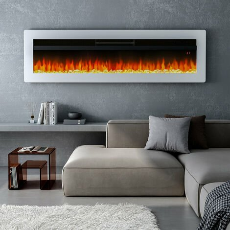 """main image of """"LED Electric Wall Fireplace 9 Flame Colours with Freestanding Leg"""""""