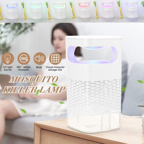 LED électrique portative USB UV anti-moustique lampe anti-moustique insectifuge piège à insectes muet Silent Killing Catcher Gradient coloré Veilleuse intérieure extérieure Version standard sans interrupteur tactile Version régulière