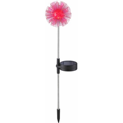 LED extérieure prise solaire lampe cour porche fleurs piquet de sol lampe en acier inoxydable rose