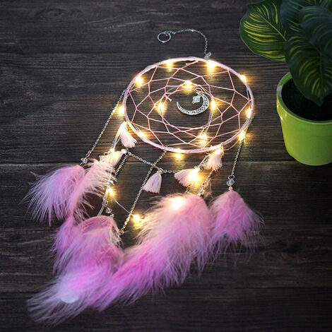 LED Fairy Lights Moon Dream Catcher Gift Wedding Home Decor