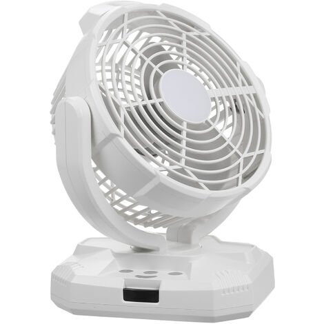 """main image of """"LED Fan Light with Remote Control USB Rechargeable 4*1800mAh Battery Operated 3 Speeds Lamp Desktop Fan for Bedroom Living Room Table Lamp Lighting,model:White"""""""