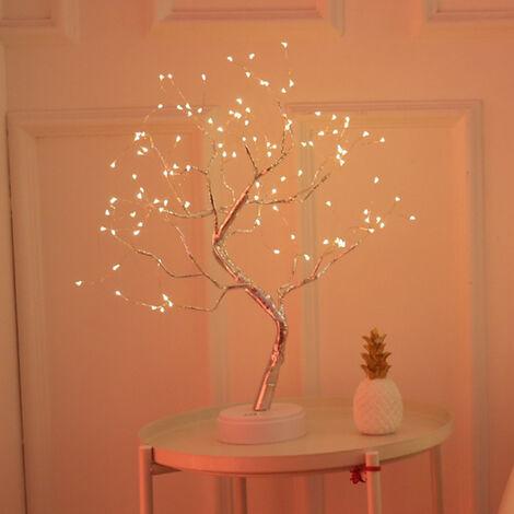 LED fil de cuivre lampe perle nuit etoilee style dix lumiere chaude 108 lampe-feu arbre livraison de fleurs en argent sans batterie