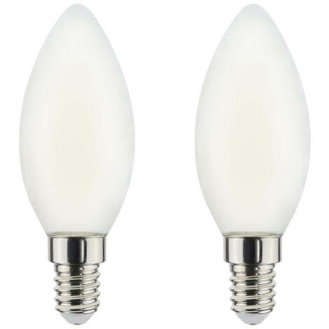 LED Filament Bulb XXCELL Flame Frosted Flame - E14 equivalent 40W x2