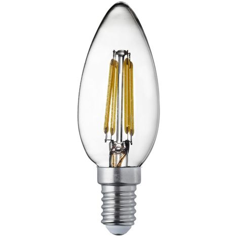 LED FILAMENT BULBS PACK x 10 - E14 LED FILAMENT CANDLE LAMP - 4W, 420LM, WARM WHITE
