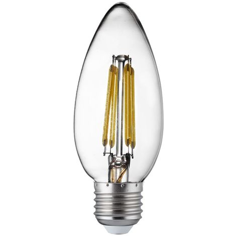 LED FILAMENT BULBS PACK x 10 - E27 LED FILAMENT CANDLE LAMP - 4W, 420LM, WARM WHITE