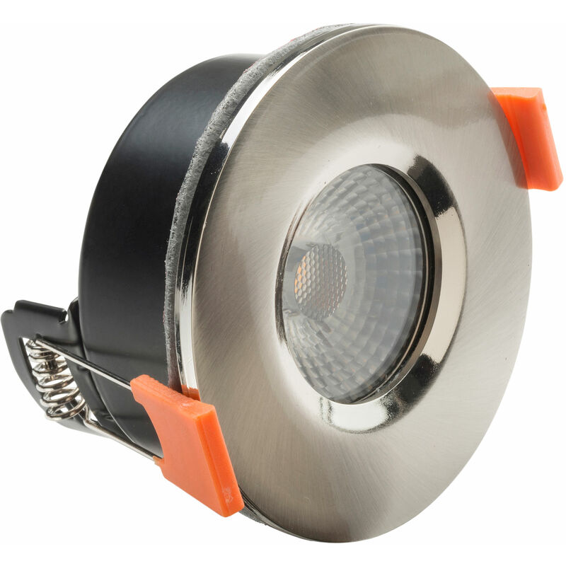 Image of 20.008.13 LED Fire Rated Anti-Glare Downlight 3.8W Satin Nickel 240V - Byron