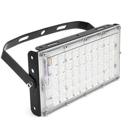 LED Floodlight 50W Outdoor Flood IP65 Waterproof Light 3500lumen Black Hasaki