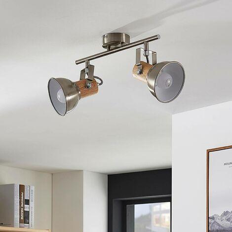 LED Foco 'Dennis' (Moderno) en Gris hecho de Metal e.o. para Cocina (2 llamas, E14, A+) de Lindby | foco empotrado, lámpara de techo, lámpara de pared