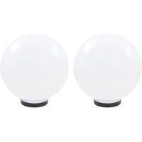 LED-Gartenleuchten 2 Stk. Kugelförmig 30 cm PMMA